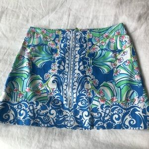 Lilly Pulitzer Mini Skirt Blue 00
